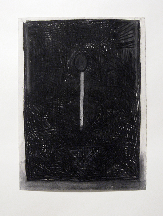 "Drawing   , 1982. Charcoal and pastel on rag paper. 30"" x 22"""
