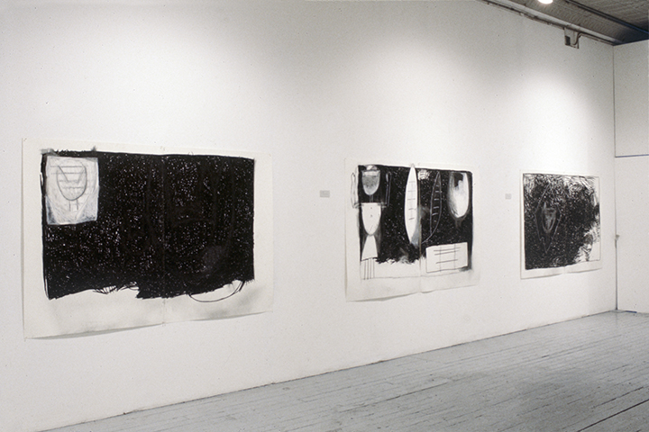Cyrilla Mozenter, Drawings.    Installation View ,  55 Mercer Gallery, NY. 1985