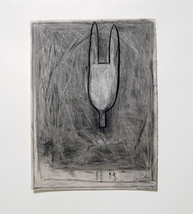 "Resurrection   , 1985. Charcoal and pastel on rag paper. 30"" x 22"""