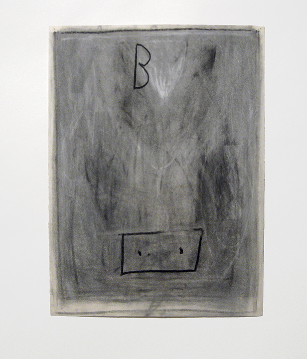 "Untitled (B),    1985. Charcoal and pastel on rag paper. 30"" x 22"""