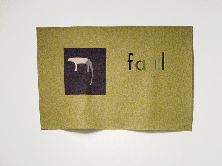 "the failed utopian XXVIII (fail/yellow) , 2015. Industrial wool felt hand stitched with silk thread. 48.25"" x 72"""