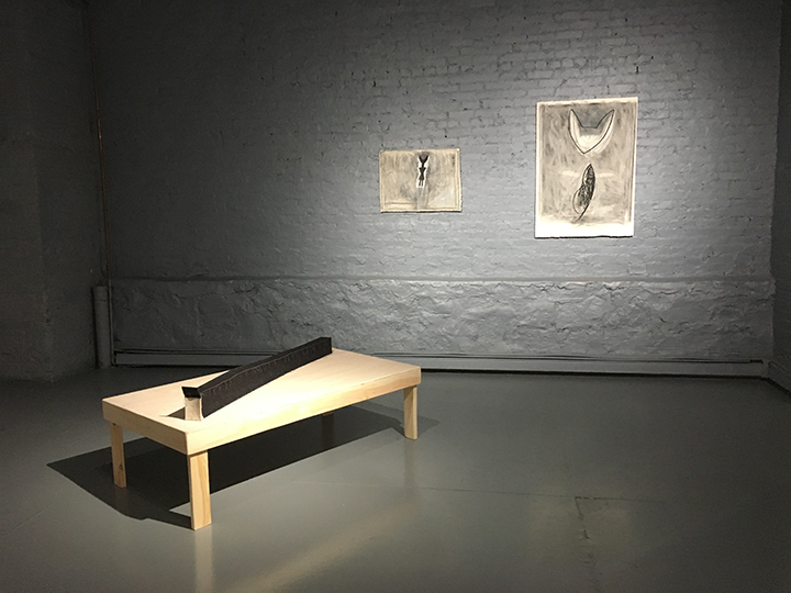 Long Box,  2017  -  Installation View.  the failed utopian & Other Stories , FiveMyles, Brooklyn, 2018