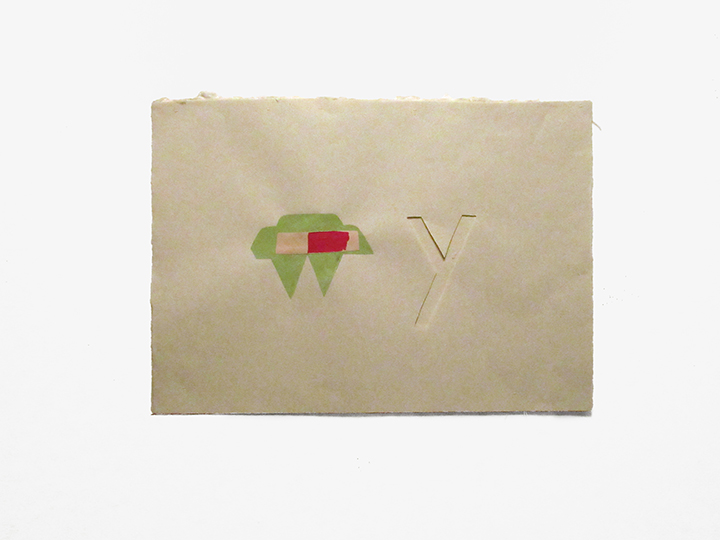 """my why (pale green) , 2018. Pencil, gouache, cut-and-pasted paper, and silk thread on a double-layer of Japanese handmade mending paper. 13.5"""" x 19"""""""