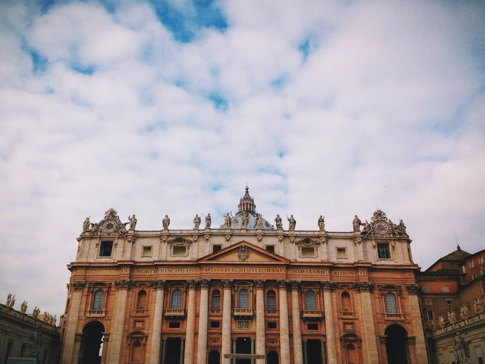 Greetings from sunny Vatican City!