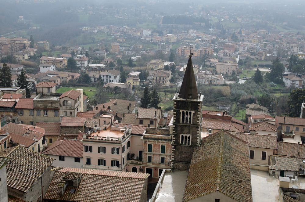 View of Palestrina from the top of the Sanctuary of Fortuna Primigenia