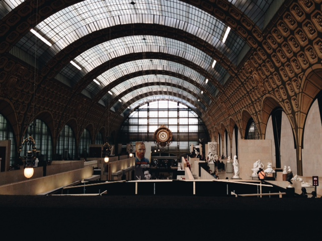 For those not in the know, the Musée d'Orsay is built in an old train station.