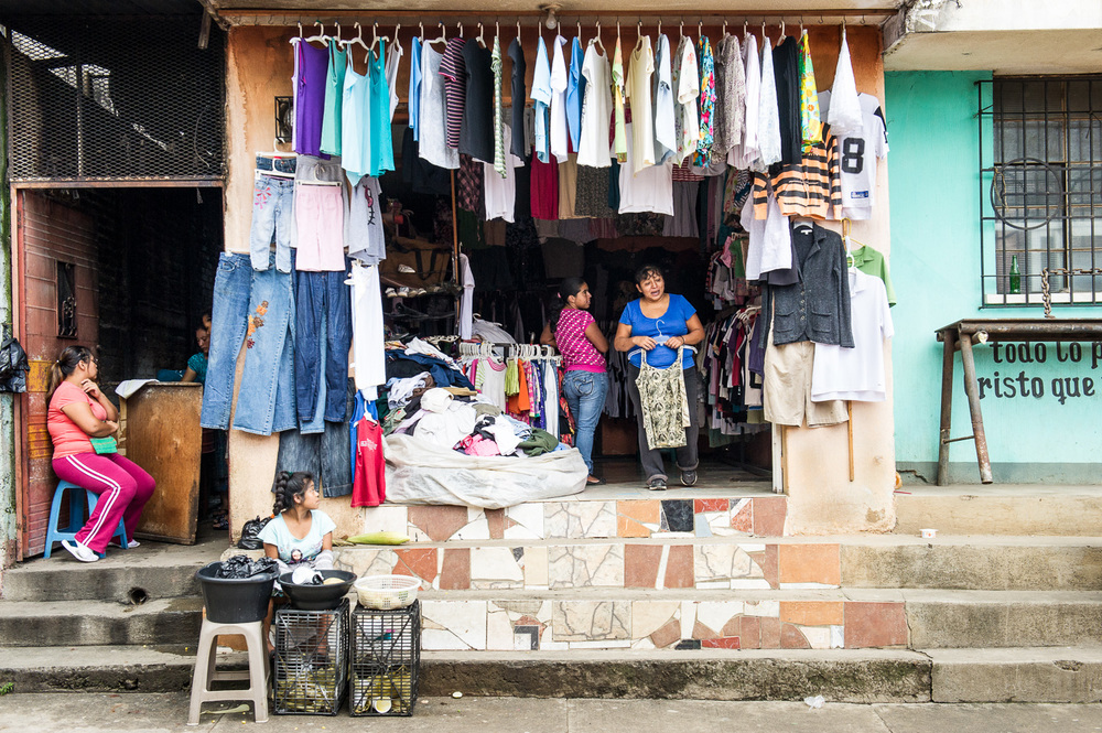 Picture of a Guatemalan clothing shop by Dawn Deeks nonprofit photography