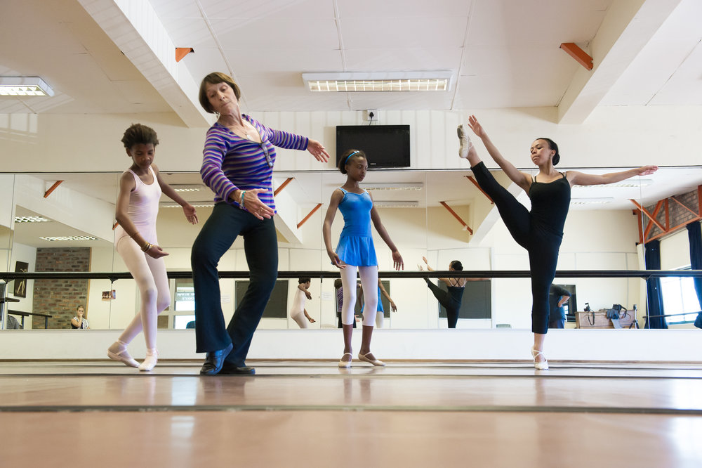 Ms. Margie is an extremely hands-on instructor, often perfectly modeling complicated moves for her students.