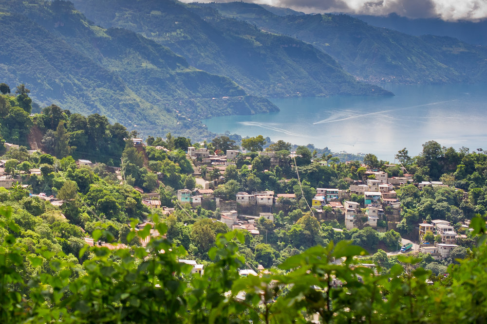 Homes are built into the sides of the volcanic mountains, preventing families from having the space for gardens. The nearest town with a market for fresh produce requires a boat ride across Lake Atitlan.