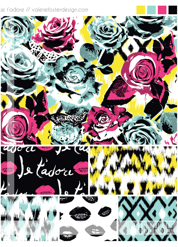 ©2014 Valerie Foster Design | valeriefosterdesign.com | Represented by Pink Light Studio | SURTEX 2014 BOOTH 417 and 516