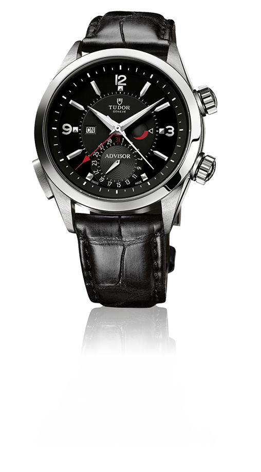 Heritage Advisor, Black Dial / Black Alligator Strap