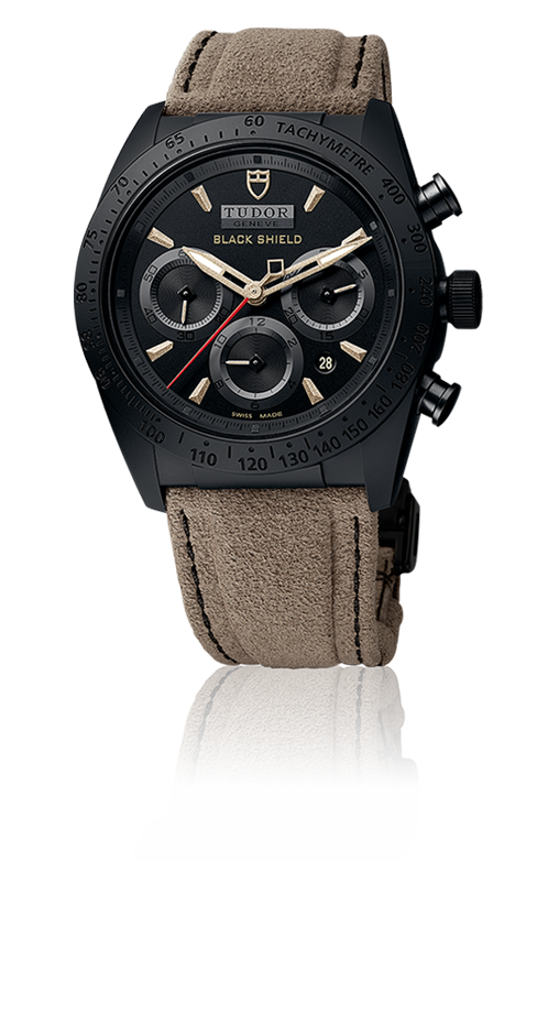 Black Shield, Bronze / Alcantara Strap