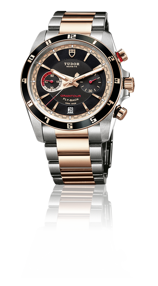 Grantour Flyback, Two-Tone / 18k Gold And Steel Bracelet