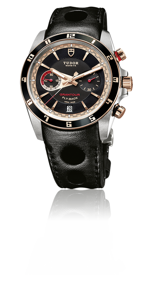Grantour Flyback, Two-Tone / Large Perforation Leather Strap