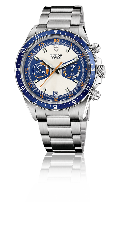Chronograph Blue, Steel Bracelet
