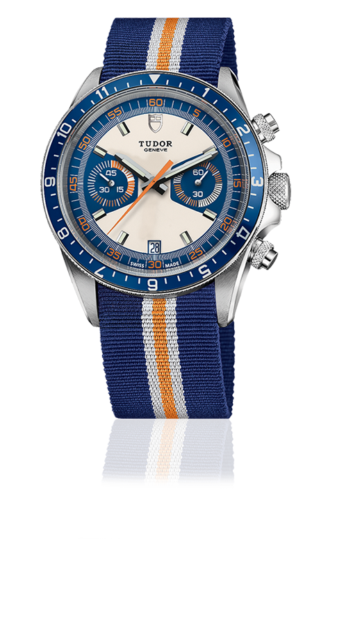 Heritage Chronograph Blue, Fabric Strap
