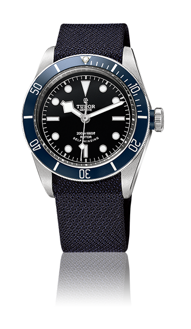 Heritage Black Bay, Fabric Strap (Blue)