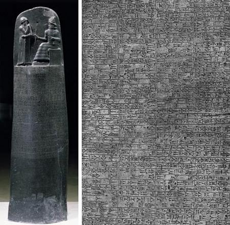 Code of Hammurabi, one of the earliest known building codes, among other things. (Images: Louvre, Paris; Public Domain)