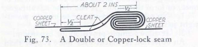 Fig. 73. A Double or Copper-lock Seam