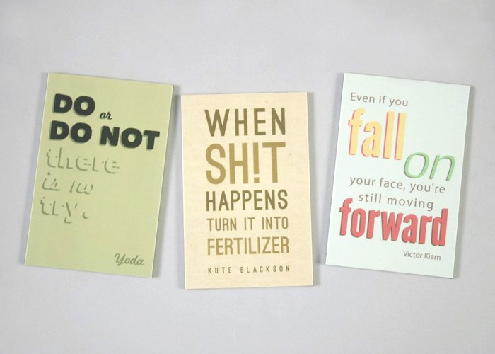Inspirational quote magnets