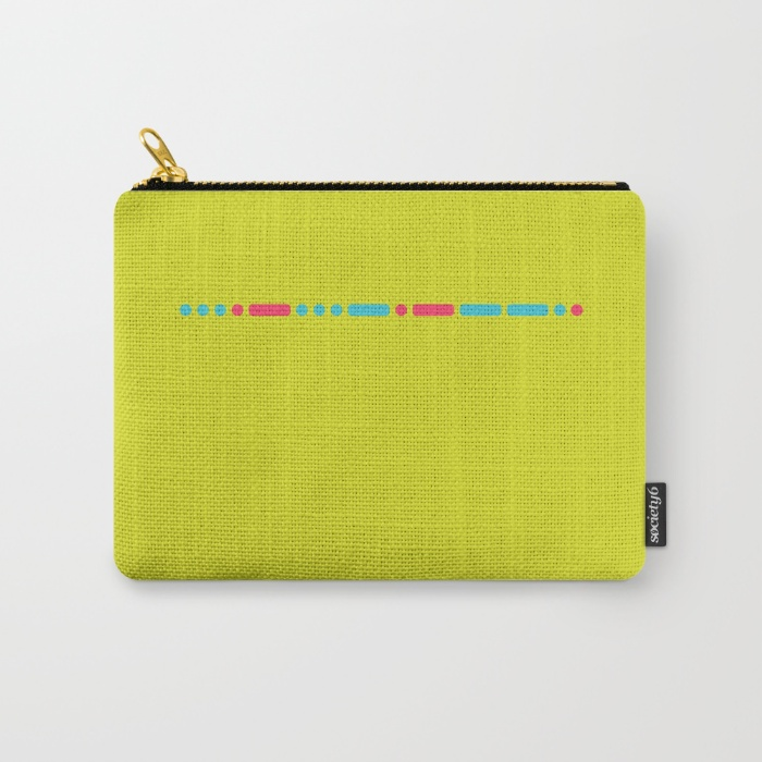 """Savage"" - Morse Code - Secret Message 6""x5"" Small Carry All Pouch  - US $14.00"