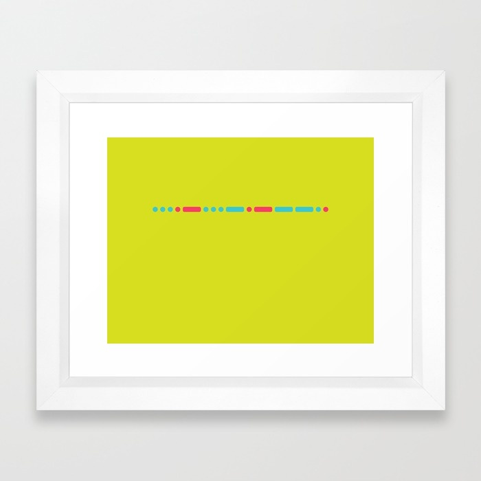 """Savage"" - Morse Code - Secret Message Framed Art Print Vector White (Mini) - US $32.00"