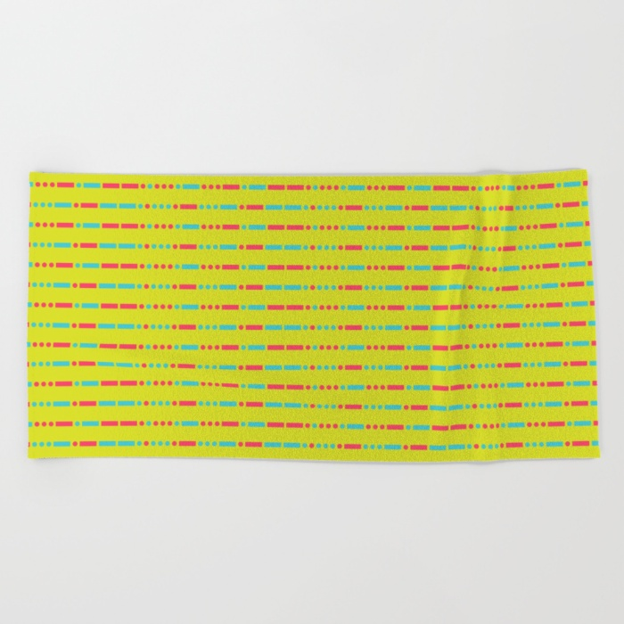 """Savage"" Pattern - Morse Code - Secret Message Beach Towel - US $38.00"
