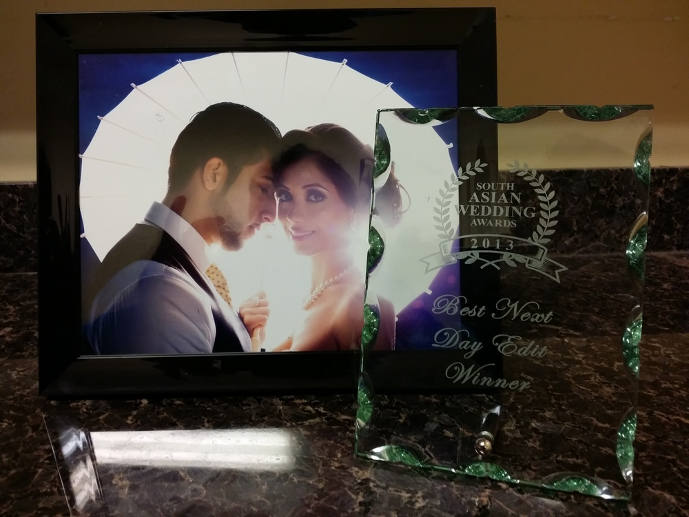 Our award for  Best Next Day Edit  alongside our portrait that placed 2nd for  Best Portrait