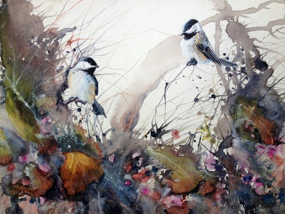 """Two Chickadees"""