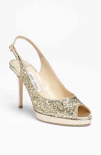 Jimmy Choo Nova glittered heel $531