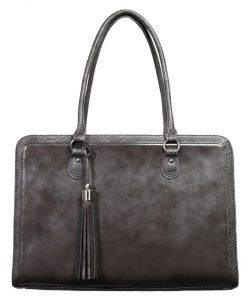 One of my fav's- The Lindsay a stylish laptop bag in Silver grey$180