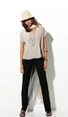 Perfect for this time of year - sand ( loving the new colour) cruise T and black long pant