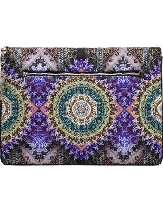 Camilla Large Canvas Clutch $129