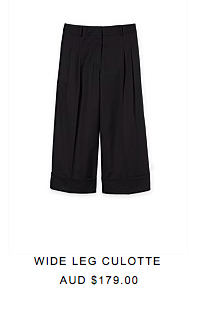 2. An easy trend to adopt this season is the culotte pant - look no further than these fabulous ones from Country Road