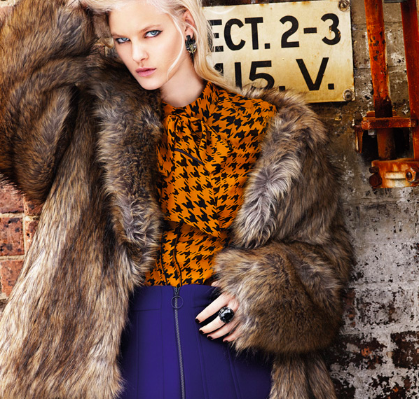 Combine colours and textures like this fab look from Cue