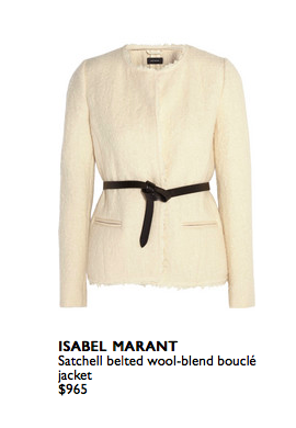 Anything in winter white will instantly transform your existing pieces into up to the minute style