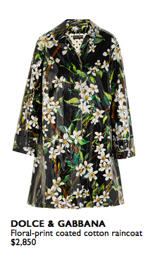 Just because it's raining doesn't mean we still cant look fabulous!  Net-a-porter