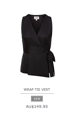 8 .Wrap Vest from Seed will look great over skinny pants, cargos worn short or long for a fashion forward look