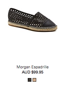 A comfy walking shoe is a must - Espadrille from Country Road