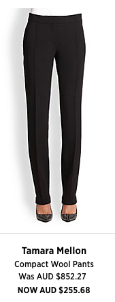 From the designer of Jimmy Choo comes a must have black pant