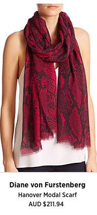 This lovely red python print perfect for cool tones