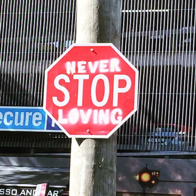 Street sign in Stanley Lane Darlinghurst #streetart#loving#clever#