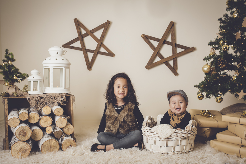 Christmas session, Burlington family photographer