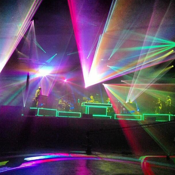 The new stage setup for Pretty Lights and his band!