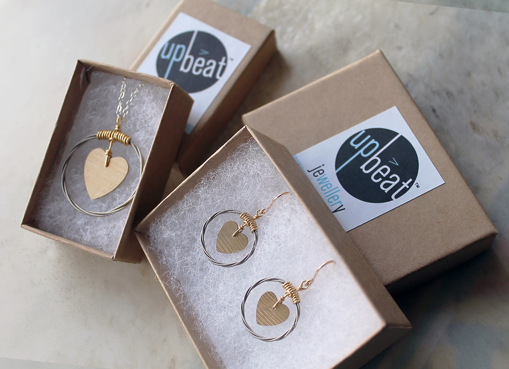 Cymbal of Love pendant and earrings