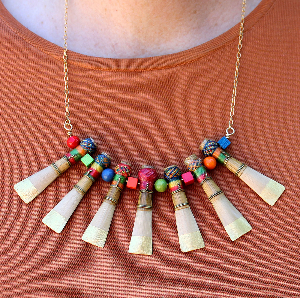 Bassoon Reed Leitmotif necklace - custom piece