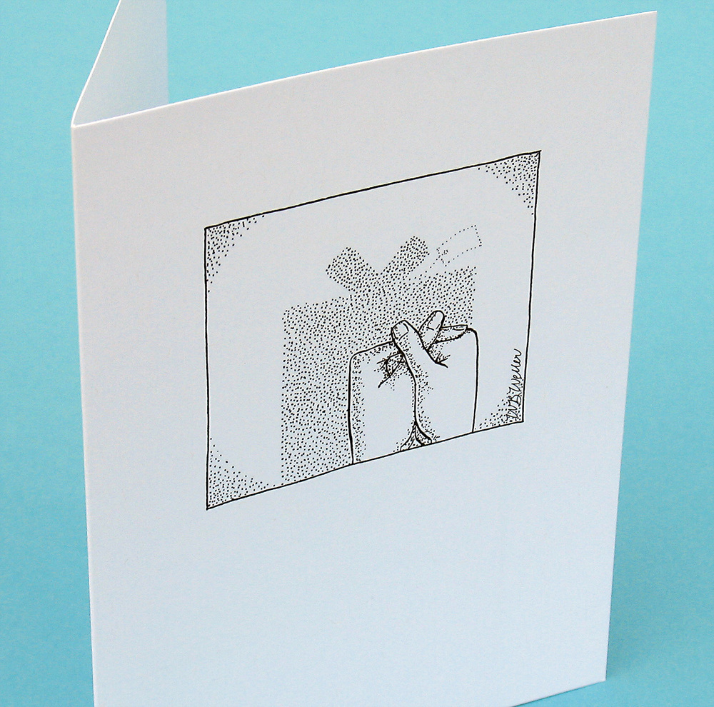 Shadow Play birthday card