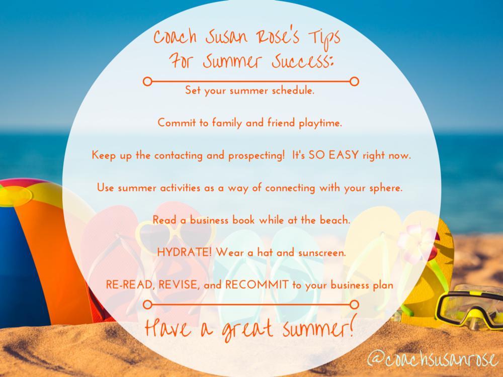 SRPC Summer Success Tips