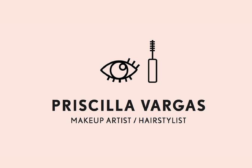 Priscilla Vargas / Makeup Artist    _ 2015   Branding & Identity, Business Cards