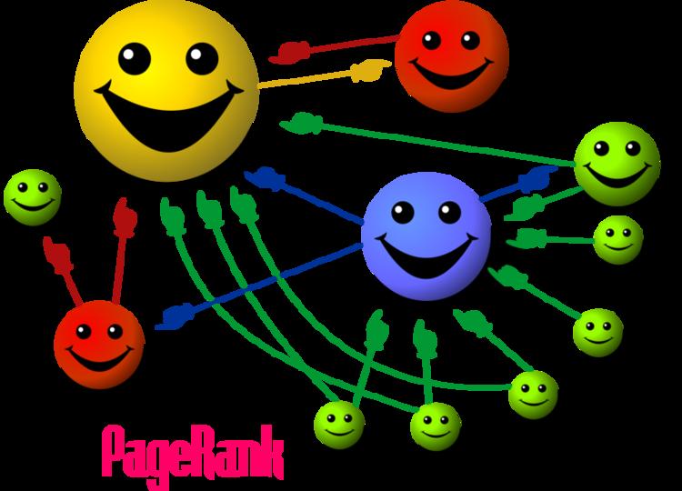 VEr como el sitio más grande es el que tiene mayor número de conexiones hacia dentro y una conexión hacia afuera, pero a un sitio que también es relevante.